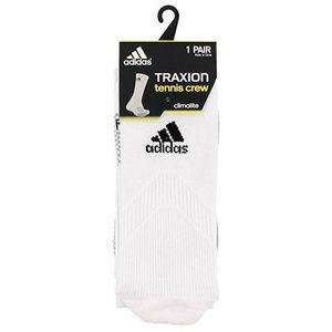 adidas Adult Traxion Tennis Single Crew Socks NEW